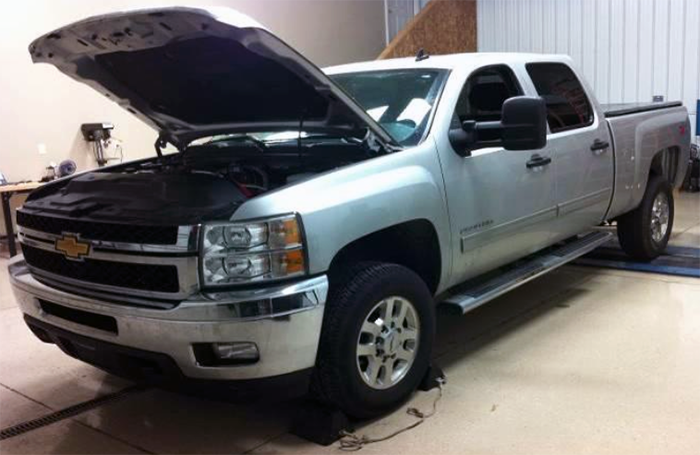 This LML Duramax Engine is ready for installation of the Truck Edition Module.